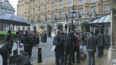 Suffragette filming takes place at Parliament