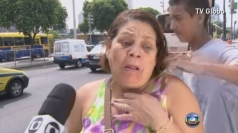 Man tries to snatch woman's necklace on live TV in Brazil