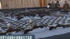 Chinese police seize huge hoard of illegal guns and knives