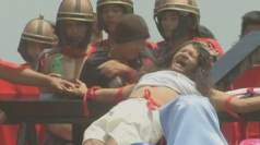 Catholics in the Philippines re-enact Christ's crucifixion