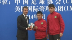 David Beckham unveils fund for youth football in Beijing