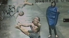 Shocking CCTV: Man catches baby who falls out of window