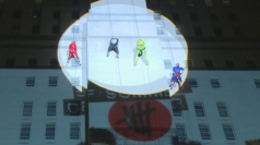5 Seconds of Summer abseil down a building