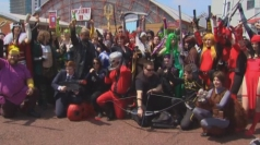London overrun with superheroes for Film and Comic Con