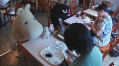 Moomin Café offers lonely Japanese customers some company