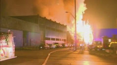 Dramatic footage: Huge fireballs rip through Canada building