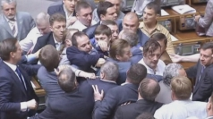 All-out brawl breaks out in Ukrainian parliament