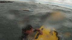 Dramatic footage of sea rescue of bodyboarder in Cornwall