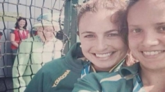 The Queen 'photobombs' a selfie at the Commonwealth Games