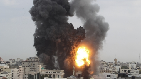 Israeli airstrike hits building in central Gaza