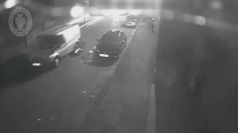 Dramatic CCTV: Policeman flung from speeding getaway van