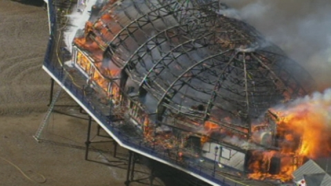 Fire rages on Eastbourne Pier as arcade catches alight