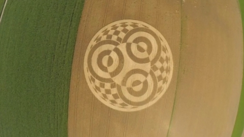 Huge mysterious crop circle appears in field in Germany