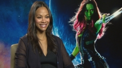Zoe Saldana on being green in Guardians of the Galaxy