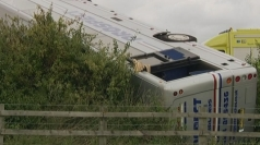 Holiday coach overturns on M5