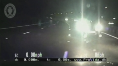 Police deliberately crash into a car on the M6