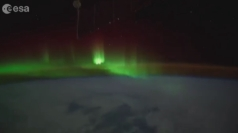 Astronauts film stunning Northern Lights from space