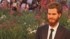 Andrew Garfield shows off bushy beard in Venice