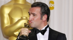Jean Dujardin wins Best Actor at the Oscars.