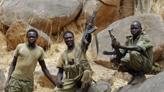 Mr Noonan was kidnapped by Sudanese militia men like these.