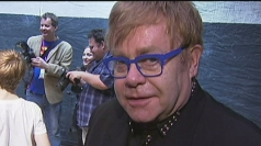 Sir Elton attends a Billy Elliot anniversary celebration.