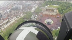 The view from above during the Jubilee flypast