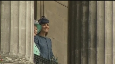 Queen, Prince William and Kate visit Nottingham