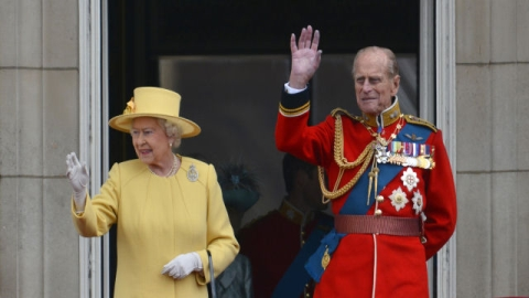The Duke back at the Queen's side for Trooping the Colour