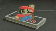 Timelapse video of artist's 3D Super Mario chalk art