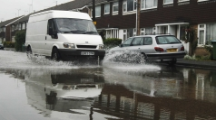 Flash flood have badly affected roads in parts of the UK.