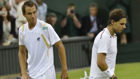 Nadal beaten by Rosol at Wimbledon