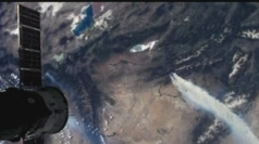 US wildfires seen from Nasa space satellite