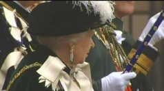 Queen attends service at St Giles' Cathedral in Edinburgh.
