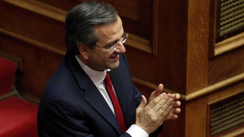 Antonis Samaras' coalition wins confidence vote