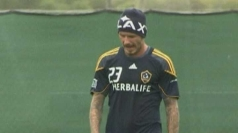 Beckham spoke after a training session with LA Galaxy.
