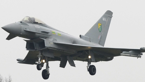 Typhoon fast jets will patrol the restricted zone.