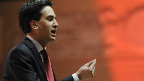 Ed Miliband speaks at Miners' Gala
