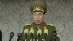 Ri Yong-ho addressing a rally in Pyongyang in March.