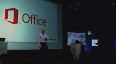 Microsoft CEO Steve Ballmer unveils the new software.