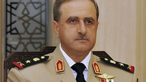 Daoud Rajha pictured at a dinner in Damascus in August 2010.