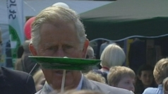 Prince Charles shows off his circus skills
