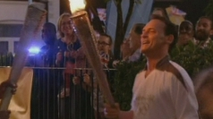 Olympic torch in EastEnders: Billy runs through Square