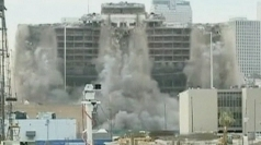 New Orleans hotel demolished in 10 seconds