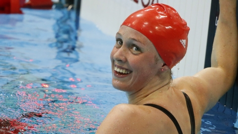 Hannah Miley keeps smiling despite missing out on a medal