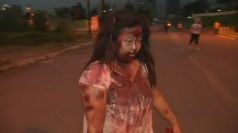 Zombie run: Brain-eating undead army in Philippines race
