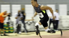 Oscar Pistorius in training for the 2012 Games