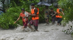 Hundreds of people left missing after floods in India.