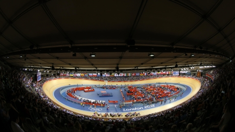 Conrad Readman had a suspected heart attack in the velodrome