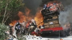 Truck fire causes £500,000 of damage