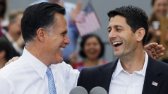 "Romney introduces Ryan as ""next president""."